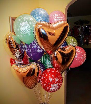 Разноцветные праздничные шары